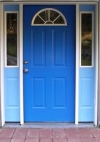 The entrance to Blue Door Electrolysis